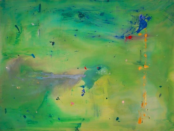 A Green Thought in a Green Shade by Helen Frankenthaler (1981)